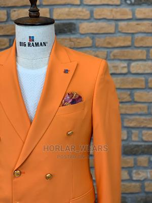 Wine Double Breasted Suit for Men   Clothing for sale in Lagos State, Lagos Island (Eko)