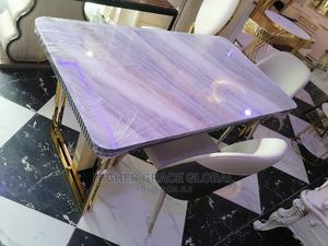 Six Seater Classic Glass Top Dining Table.   Furniture for sale in Lagos State, Lagos Island (Eko)