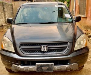 Honda Pilot 2004 EX-L 4x4 (3.5L 6cyl 5A) Gray | Cars for sale in Lagos State, Ogba