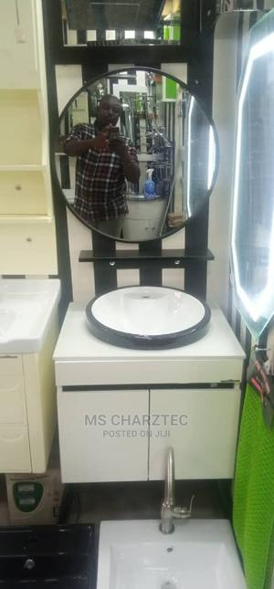 Classy and Beautiful Round Bathroom Mirror in White | Home Accessories for sale in Lagos State, Ikeja