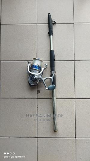 2.1 Metre Telescopic Spinning Fishing Rod and Reel   Camping Gear for sale in Lagos State, Ikoyi