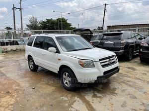 Honda Pilot 2006 EX-L 4x4 (3.5L 6cyl 5A) White   Cars for sale in Lagos State, Ikeja