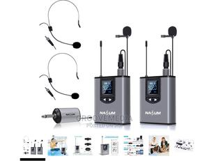 Nasum Dual Wireless Lavalier Lapel Microphone Plus Headset   Accessories & Supplies for Electronics for sale in Lagos State, Ikeja