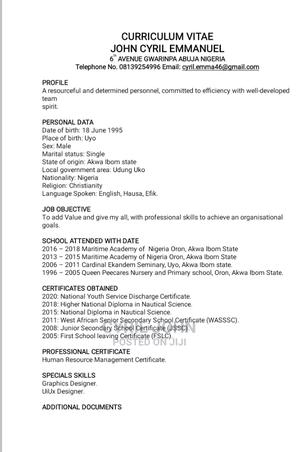 Human Resources CV | Human Resources CVs for sale in Lagos State, Victoria Island