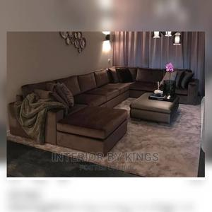 U-Shaped Fabric Sofa With an Ottoman.For Bigger Space   Furniture for sale in Lagos State, Gbagada