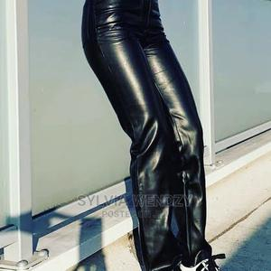 Black Leather Palazzo Trouser | Clothing for sale in Lagos State, Alimosho