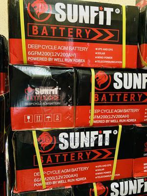 200ah 12v Sunfit Solar Gel Battery   Solar Energy for sale in Lagos State, Ojo