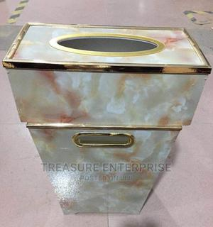 Wood Waste Bin and Tissue Box Set | Home Accessories for sale in Lagos State, Lagos Island (Eko)