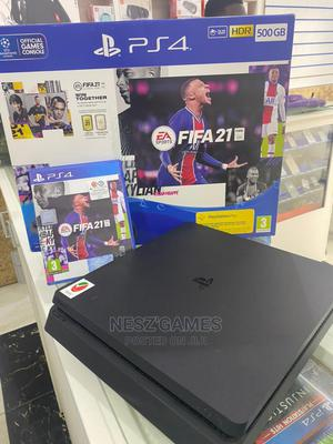Playstation 4 Slim With FIFA 21 CD | Video Game Consoles for sale in Imo State, Owerri