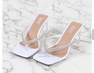 White Slippers Heel | Shoes for sale in Abuja (FCT) State, Gwarinpa