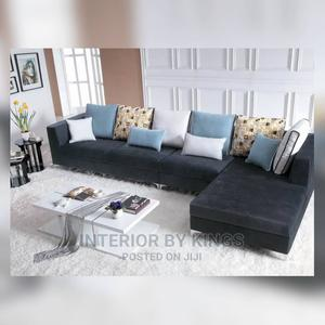 L-Shaped Fabric Sofa With a Coffee Table | Furniture for sale in Lagos State, Ajah