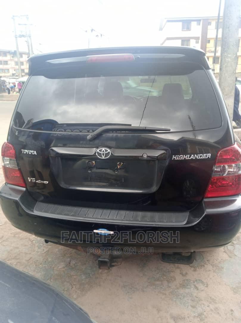 Toyota Highlander 2007 V6 4x4 Black   Cars for sale in Ikeja, Lagos State, Nigeria