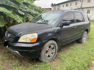 Honda Pilot 2005 EX-L 4x4 (3.5L 6cyl 5A) Black | Cars for sale in Lagos State, Ojodu