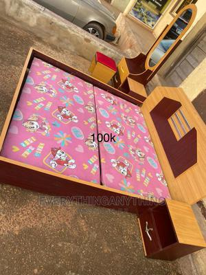 Wooden Bed, Cabinet Bed, With Mirror and Drawer | Furniture for sale in Enugu State, Enugu