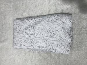 White Tissue Net Lace Designed With Sequins   Clothing for sale in Lagos State, Ajah