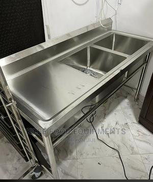Stainless Steel Double Bowl Sink   Restaurant & Catering Equipment for sale in Abuja (FCT) State, Wuse 2