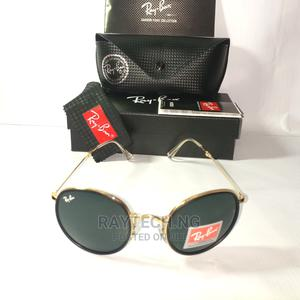 Foldable Gold Rayban Round Combo Darkshades | Clothing Accessories for sale in Lagos State, Ajah