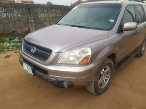 Honda Pilot 2004 EX 4x4 (3.5L 6cyl 5A) Gold | Cars for sale in Lagos State, Alimosho