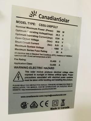 350watt Original Canadian Solar Panel Highly Efficient | Solar Energy for sale in Oyo State, Ibadan