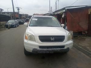 Honda Pilot 2005 EX-L 4x4 (3.5L 6cyl 5A) White | Cars for sale in Lagos State, Surulere