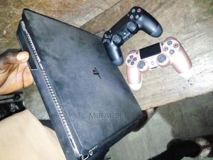 Black Coloured Playstation 4 Flat Slim   Video Game Consoles for sale in Anambra State, Awka