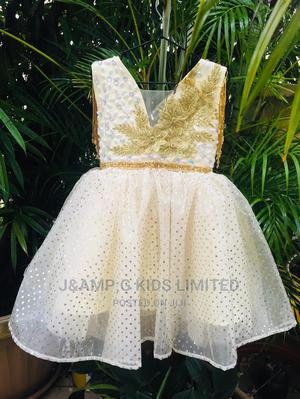 Cream and Gold Dress | Children's Clothing for sale in Lagos State, Lekki