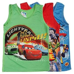 Character Singlet for Boys Set of 3 | Children's Clothing for sale in Lagos State, Surulere