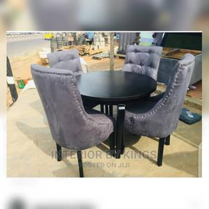 4seater Dining Set With HDF Wood Table Can Come in Colors   Furniture for sale in Lagos State, Ajah