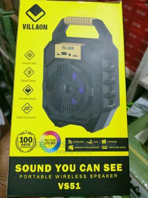 VILLAON VS51 Bluetooth Wireless Speaker TF Card AUX FM Radio   Audio & Music Equipment for sale in Lagos State, Ikeja