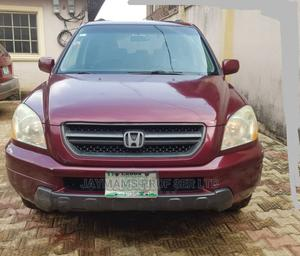 Honda Pilot 2004 LX 4x4 (3.5L 6cyl 5A) Red | Cars for sale in Lagos State, Ikorodu