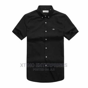 Original Lacoste Plain Packet Shirt Short Sleeve | Clothing for sale in Lagos State, Surulere