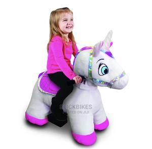 6 Volt Stable Buddies Willow Unicorn Plush Ride-On Dynacraft | Toys for sale in Lagos State, Isolo