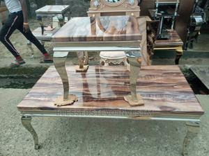 Marble Center Table With Too Side Stool   Furniture for sale in Lagos State, Badagry