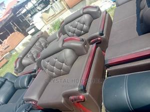 Quality Grey Leather 7 Seater Sofa | Furniture for sale in Lagos State, Shomolu