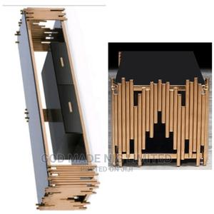 Quality Modern Gold and Black Glass Top Tv Stand   Furniture for sale in Lagos State, Alimosho