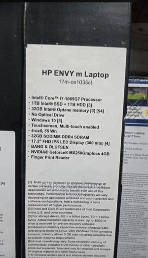 New Laptop HP Envy 17 32GB Intel Core I7 SSHD (Hybrid) 1T | Laptops & Computers for sale in Lagos State, Ikeja