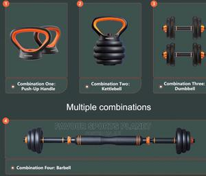 New 4 Ways Barbell,Dumbbell, Kettlebell and Push Up 40kg | Sports Equipment for sale in Rivers State, Port-Harcourt
