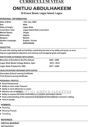 Office CV | Office CVs for sale in Lagos State, Ajah