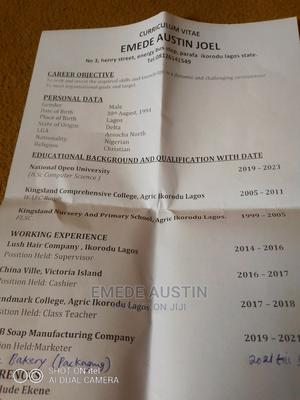Advertising Marketing CV   Advertising & Marketing CVs for sale in Lagos State, Lekki