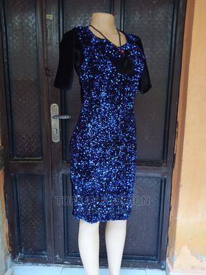 Sequence Velvet Short Gown | Clothing for sale in Lagos State, Ikorodu