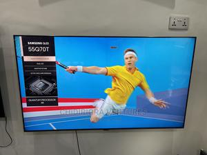 Samsung 55-Inch Class Qled Q70T Series - 4K Uhd Dual LED TV | TV & DVD Equipment for sale in Lagos State, Ojo
