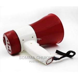 Portable Rechargeable Megaphone Speaker With Usb - Red | Audio & Music Equipment for sale in Lagos State, Mushin