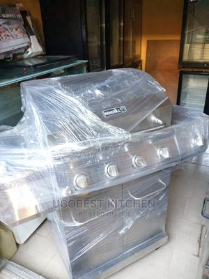 Brand New 4 Burners Barbecue Grill With Cooker (Gas) | Restaurant & Catering Equipment for sale in Lagos State, Amuwo-Odofin