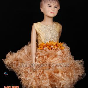 Gold Ruffled Princess Gown | Clothing for sale in Abuja (FCT) State, Dei-Dei