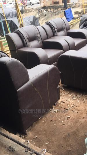 A 7 Sitter Chair, Made With Leather   Furniture for sale in Lagos State, Agege