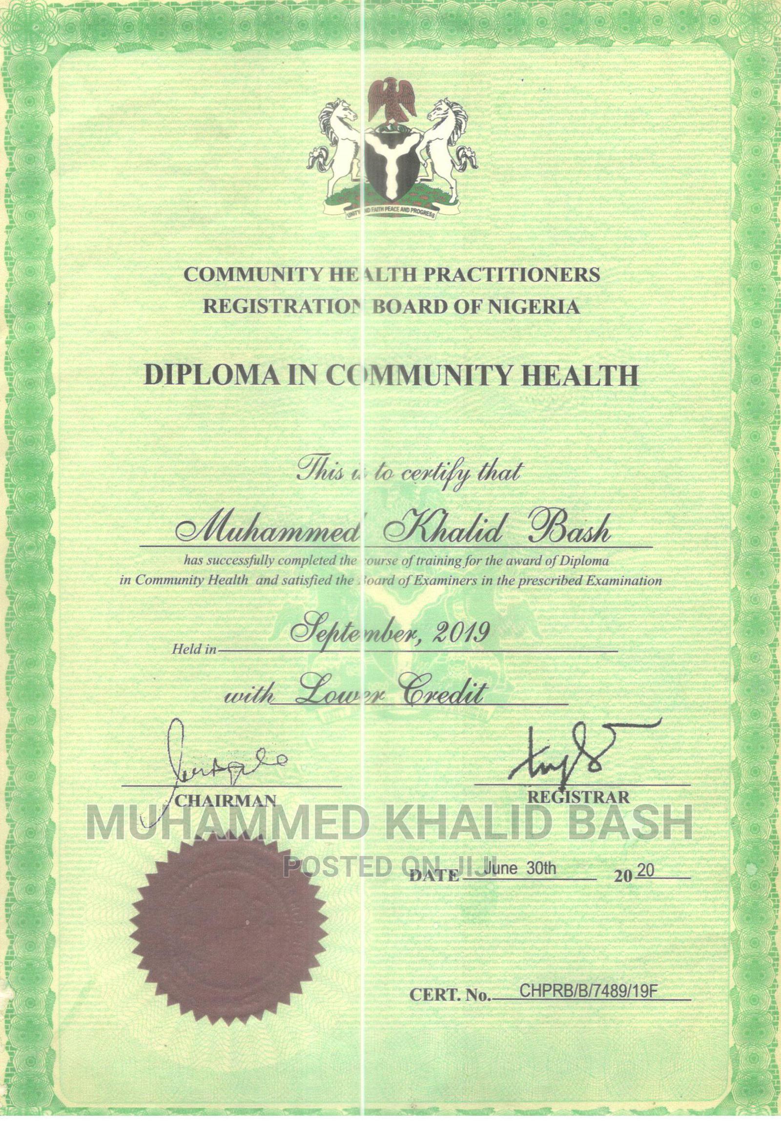 Healthcare Nursing CV | Healthcare & Nursing CVs for sale in Bosso, Niger State, Nigeria
