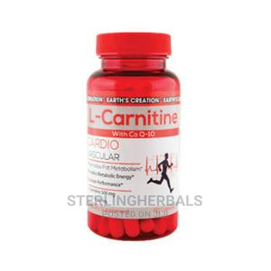 Earth Creation Co-Q 10 L- Carnitine (60 Capsules | Vitamins & Supplements for sale in Lagos State, Yaba