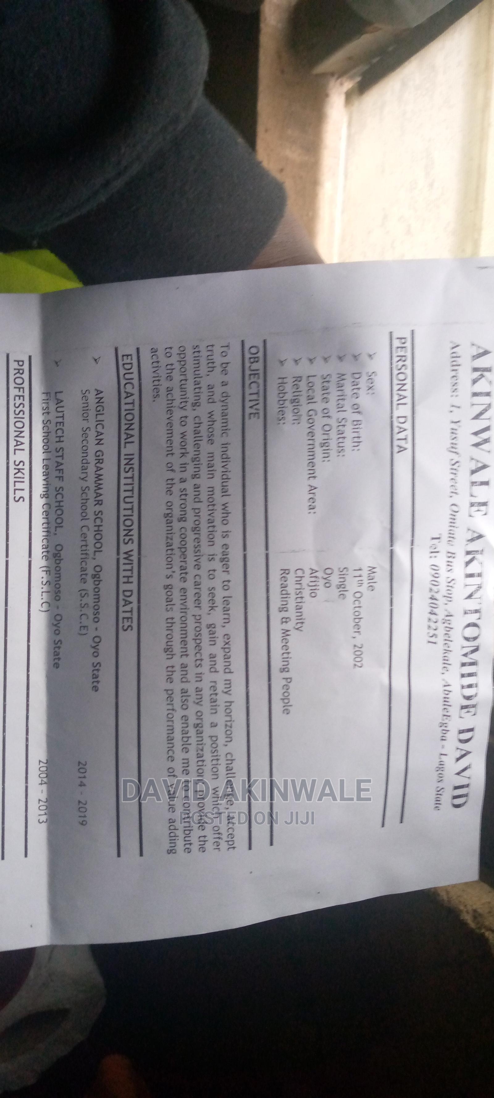 Computing It Cv | Office CVs for sale in Ipaja, Lagos State, Nigeria