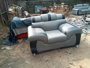 Affordable Sofa Chair With Combination of Two Leathers   Furniture for sale in Abia State, Aba North