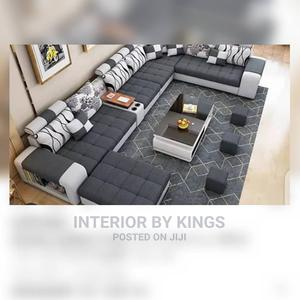 U-Shaped Catalogue Sofa+ 3pieceof Ottoman and Coffee Table | Furniture for sale in Lagos State, Ikeja